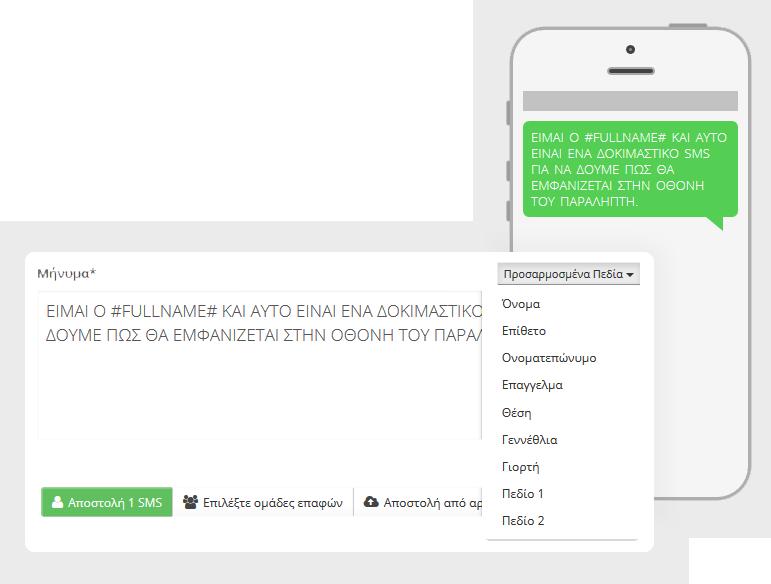 SMS Marketing - παράδειγμα